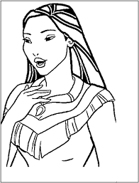 Small Picture Fancy Pocahontas Coloring Pages 19 On Picture Coloring Page with