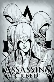Elegant Assassins Creed Coloring Pages Or Assassins Creed Coloring
