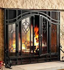 corner fireplace doors corner fireplace screens doors home depot image gas glass vs screen fireplace door