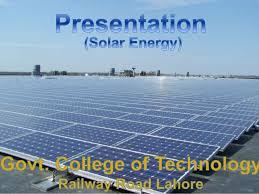 Solar power presentation