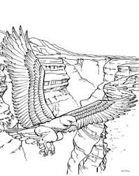 Small Picture 3D Coloring Pages For Adults of an eagle resting online
