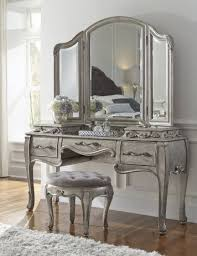 mirrored makeup vanity set. rhianna bedroom vanity set in platinum | pulaski home gallery stores mirrored makeup a