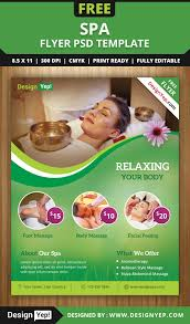 spa flyer psd template for designyep spa flyer psd template for