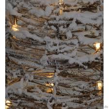 Chiccie Deko Pyramide Aus Weide Schneebeckt 60cm