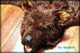 fake bear skin rug with head bear fur rug faux bear skin rug with head fur