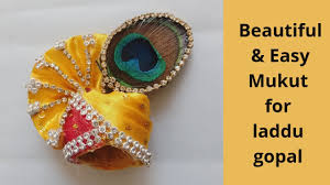 Laddu Gopal Jewellery Designs How To Make Beautiful Looking Mukut For Laddu Gopal Step By Step