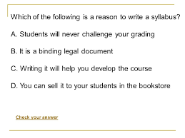 How To Write A Syllabus Writing A Syllabus What Is It Ppt Download