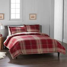 details about sealed cuddl duds heavyweight flannel duvet 3 piece set red plaid king