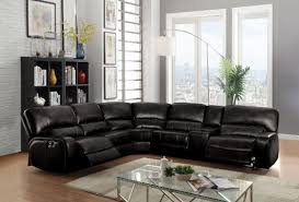saul black reclining sectional all