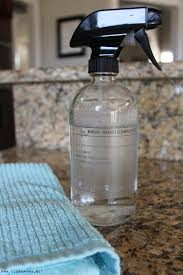 marble granite cleaning spray on counter