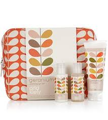 gifts sets by orla kiely geranium toiletry bag gift set