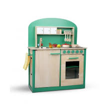 8 piece kids pretend play wooden kitchen play set natural green