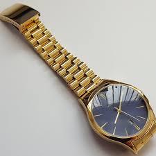 mens sekonda gold coloured stainless steel analogue black dial mens sekonda gold coloured stainless steel analogue black dial luxury watch 1018