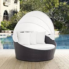 outdoor patio daybed. Ryele Canopy Outdoor Patio Daybed With Cushions O