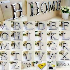 26 letters diy 3d mirror acrylic wall sticker decals home decor wall art mural on diy 3d mirror wall art with 26 letters diy 3d mirror acrylic wall sticker decals home decor wall