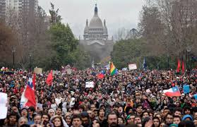Image result for photo of April 16 santiago demonstration