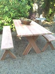 round redwood picnic table plans
