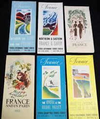 Lot Of 6 France Souvenir Tourism Travel Brochure Guides 1950s 1960s