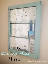 spay paint an old window to get a mirror look