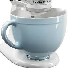kitchenaid mixer bowl attachments. new kitchenaid ksmcb5gb 5-qt ceramic mixing bowl attachment glacier blue kitchenaid mixer attachments .
