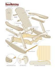 wooden rocking chair plans. make a muskoka rocking chair from composite wood wooden plans r