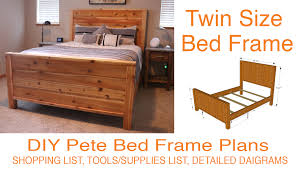 diy bed frame plans how to make a with pete diy build a diy twin