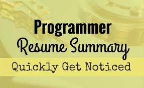 Get Your Programmer Resume Noticed With A Compelling Summary