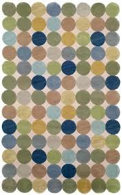 Multi color circle area rugs - Trans Ocean Amalfi Circles Ocean 1958/04