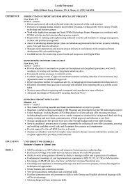 Senior Support Specialist Resume Samples Velvet Jobs