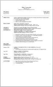 Resume Template Resume Templates Word 2007 Free Career Resume