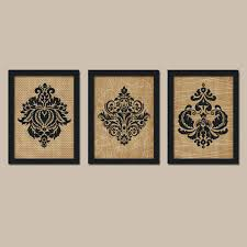attractive damask wall art best of like this item canvas decals stickers prints wood stencil fabric