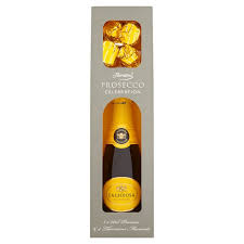prosecco and thorntons truffle giftset