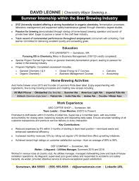 Internship Resume Samplesorreshers Templates College Students
