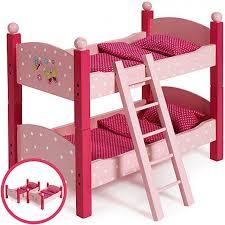 Letto a castello per bambole in legno divisibile giochi giocattoli