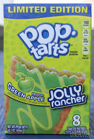 kellogg s frosted sour green apple jolly rancher pop tarts review box
