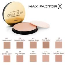 Max Factor Creme Puff Colour Chart Max Factor Hypoallergenic Face Powders For Sale Ebay