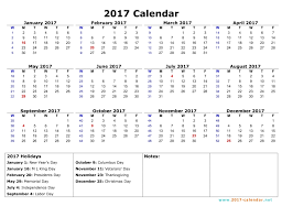 yearly calendar 2017 template printable 2017 calendar