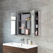 600 X 900 Stainless Steel Bathroom Mirror Cabinet Modern Triple