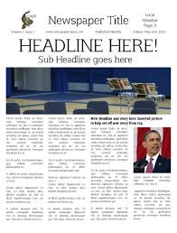 Newspaper Templates For Students Uk