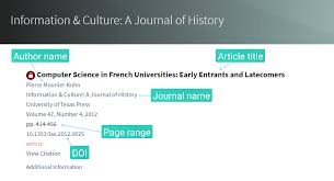 how to cite a journal article in apa