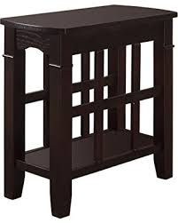 Furniture of America Nisee Open Magazine Rack Side Table, Espresso