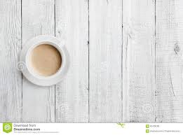 white table top view. Interesting Table Coffee Cup On White Wood Table Top View Stock Photo Image 60438288 Inside V