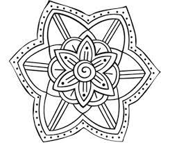 Mandala Fiore Mandala Da Colorare Per Bambini