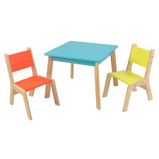 ... Kids Furniture, Kids Desk Walmart Childres Desk And Chair Set Orange  And Yellow Hairs Blue ...