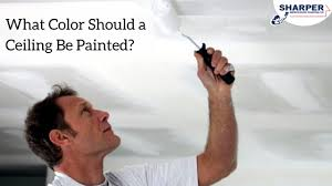 what color should a ceiling be painted