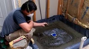how to build a shower base