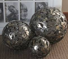 Small Decorative Balls Magnificent Unique Crafts And Home Decorations Made Of Reclaimed Coins Keys