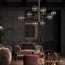 nordic dining room pendant lamps glass