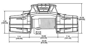 warn industries jeep truck suv winches zeon 10 s platinum