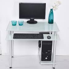 brilliant desktop computer desk home desktop table glass minimalist corner for small desktop computer desk